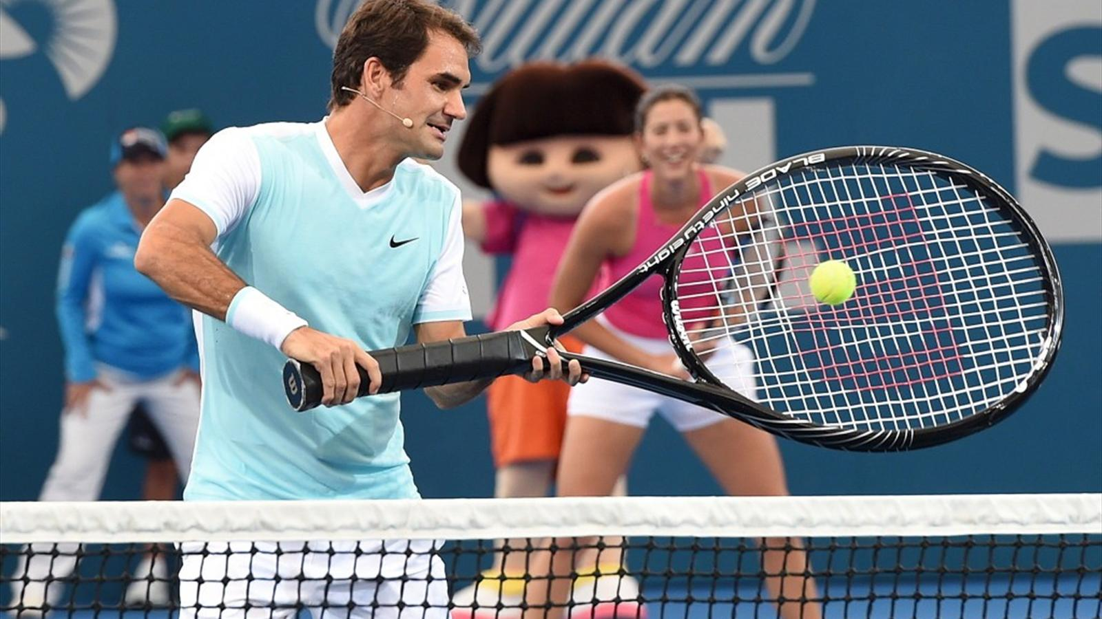 titillating tennis player can't believe the size of his racket  85348
