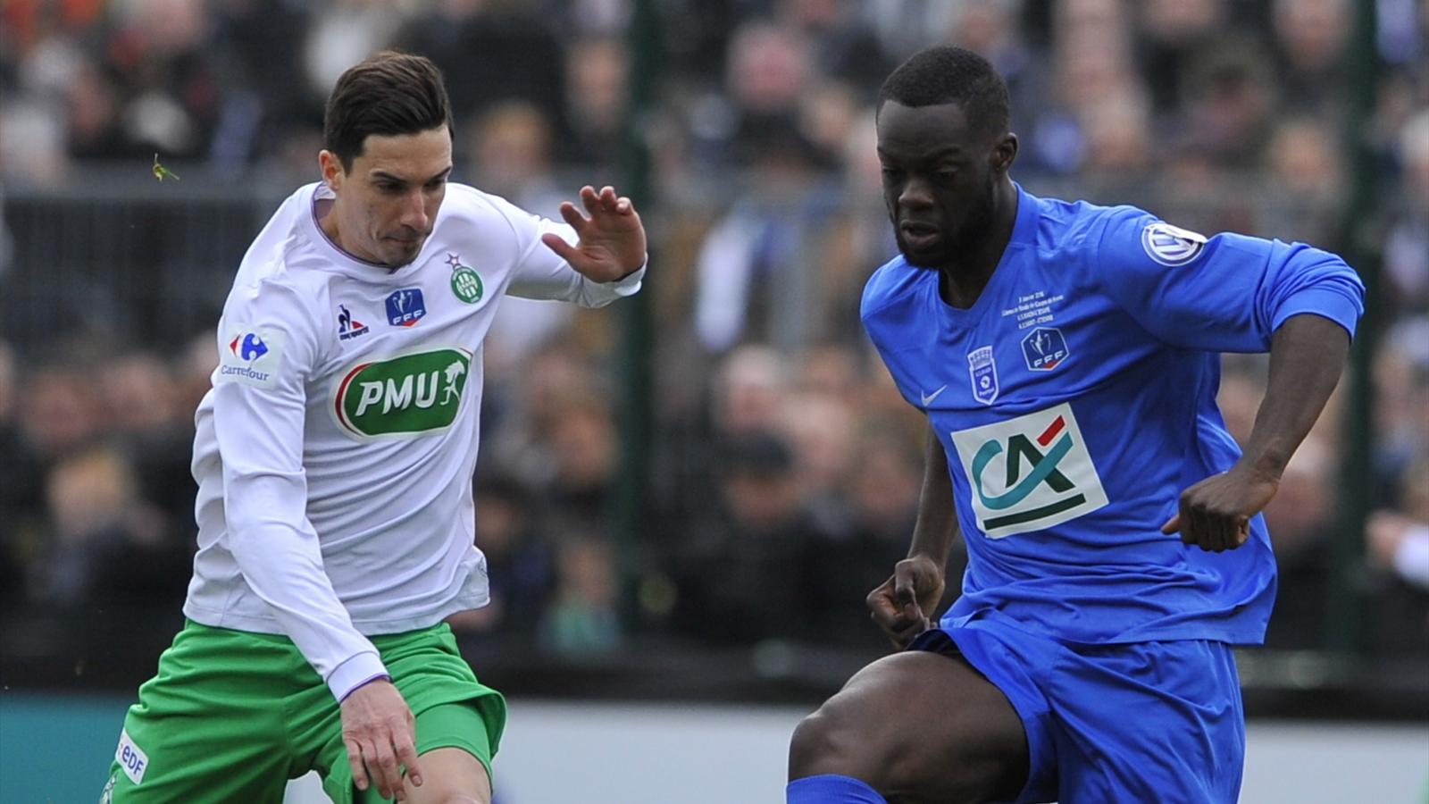 Pajot (Saint-Etienne) face à Raon l'Etape en Coupe de France