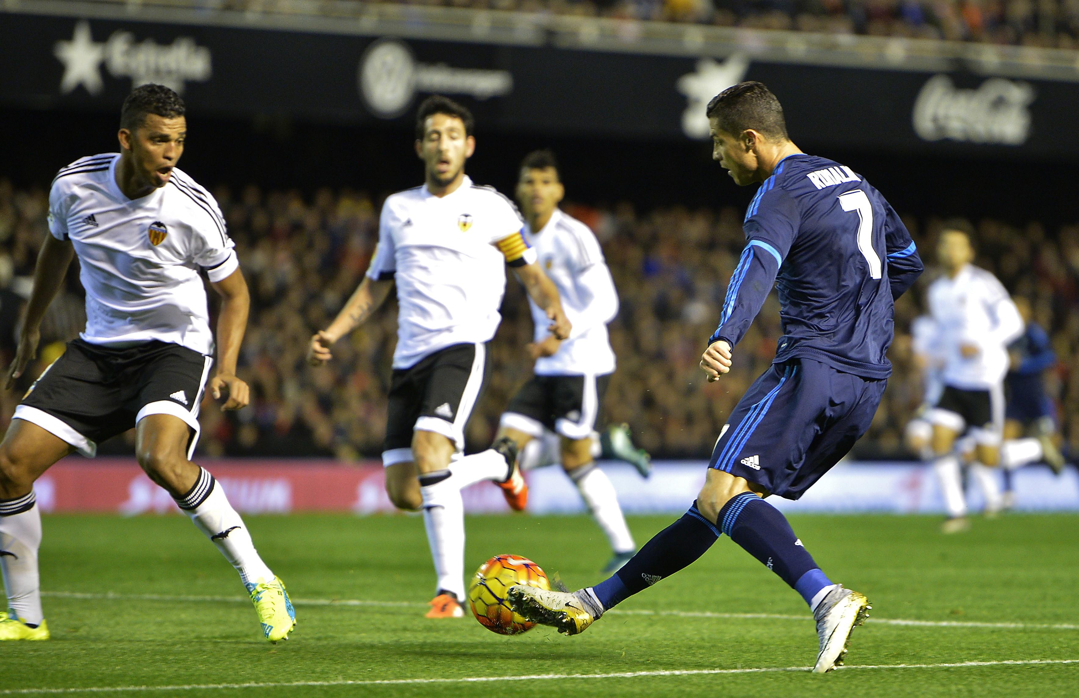 Криштиану Роналду в матче «Реал» – «Валенсия»