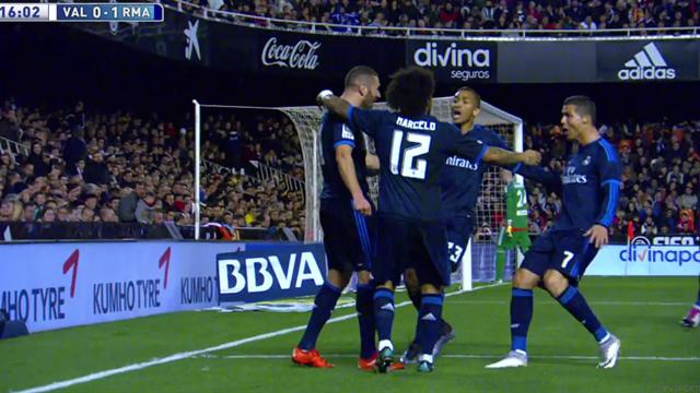 La BBC aussi brille : le très beau but de Benzema contre Valence