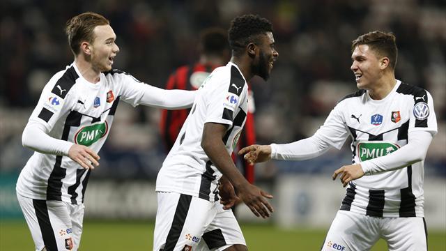 Rennes sort Nice au bout du suspense