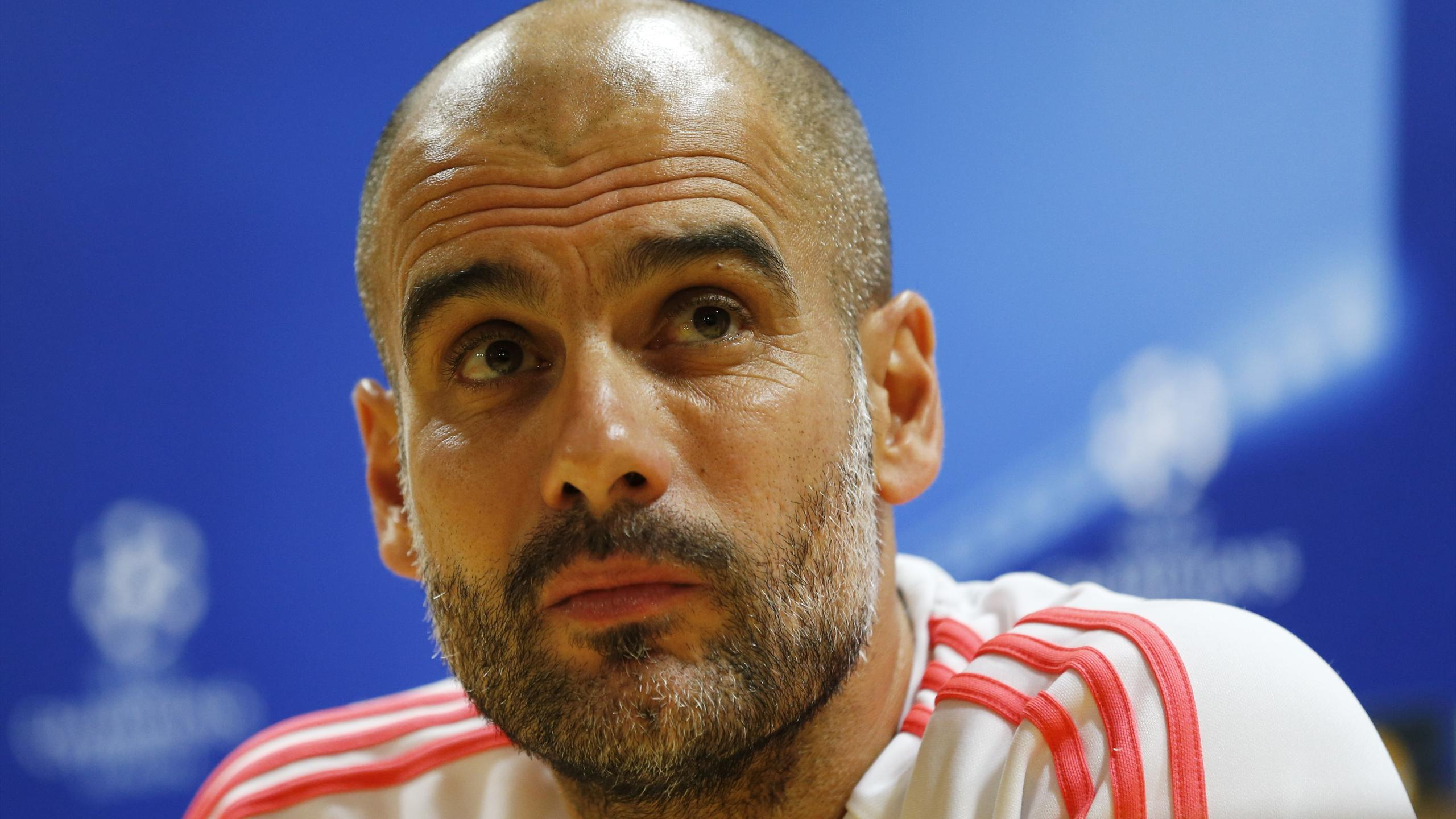 Bayern Munich coach Josep Guardiola during the press conference
