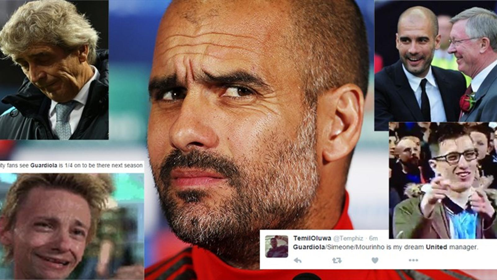 Twitter reaction to Pep Guardiola confirming he is coming to the Premier League