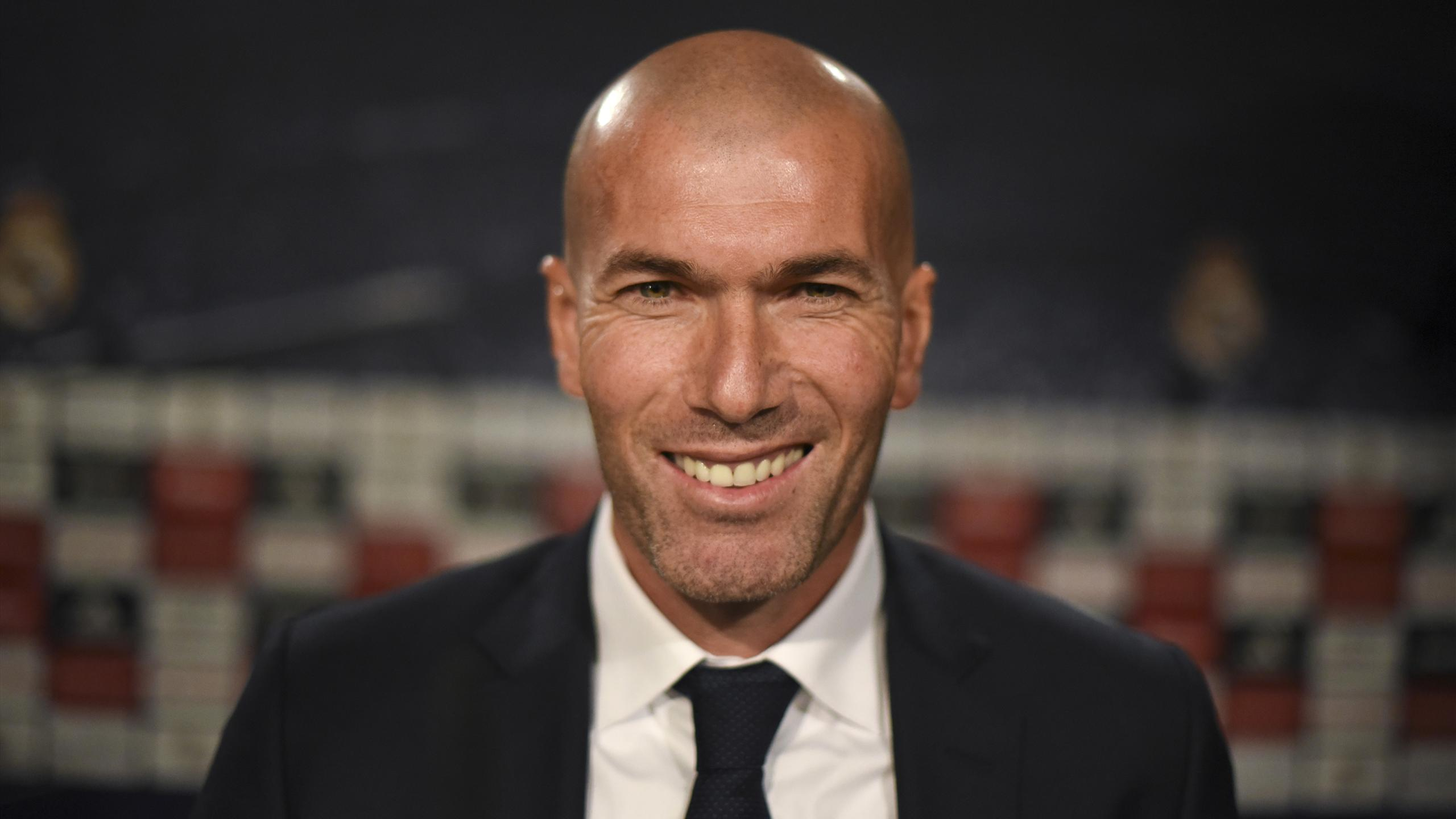 Zinedine Zidane lors de sa première conférence de presse en tant que coach du Real Madrid