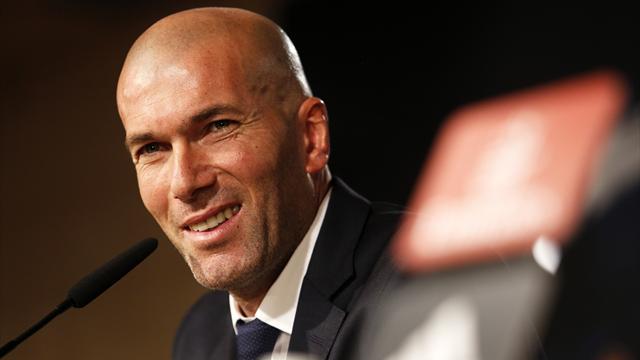 """Le stress """"est moindre"""" pour Zidane, qui garde le sourire"""