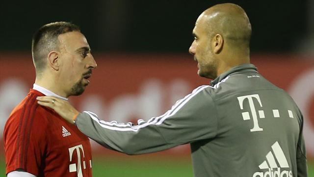 """Guardiola : """"Ribéry est l'un des joueurs les plus importants de l'histoire du Bayern"""""""