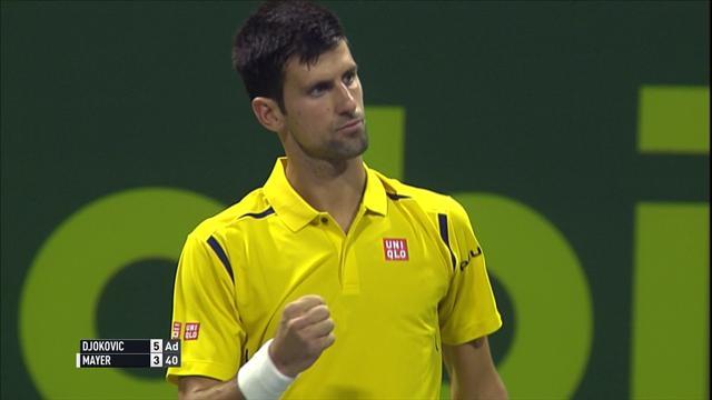 Djokovic peut serrer le poing, Mayer lui a donné du fil à retordre : les temps forts