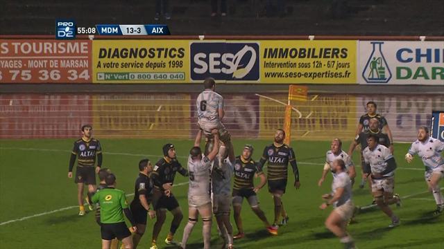 Le résumé de Mont-de-Marsan - Provence Rugby en vidéo
