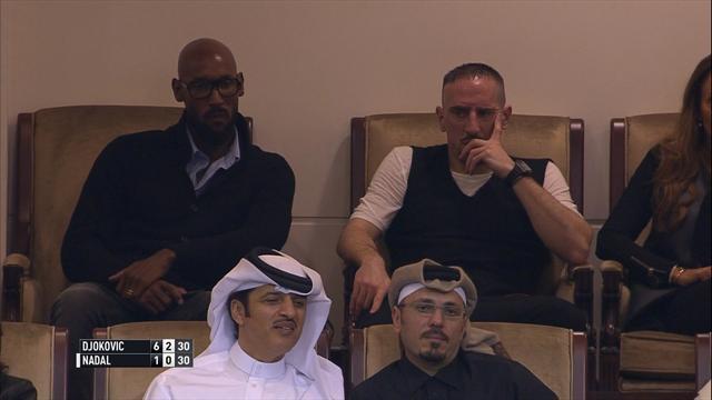 Anelka et Ribery, spectateurs privilégiés
