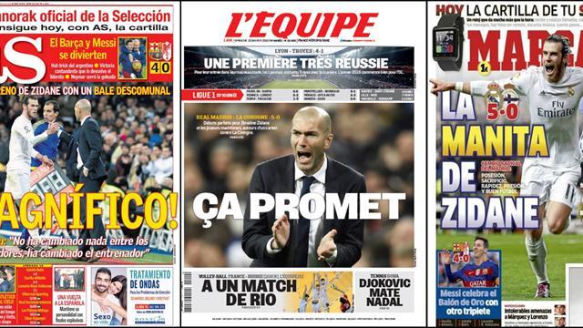 Le Real a brillé et Zidane s'est déjà mis les médias dans la poche