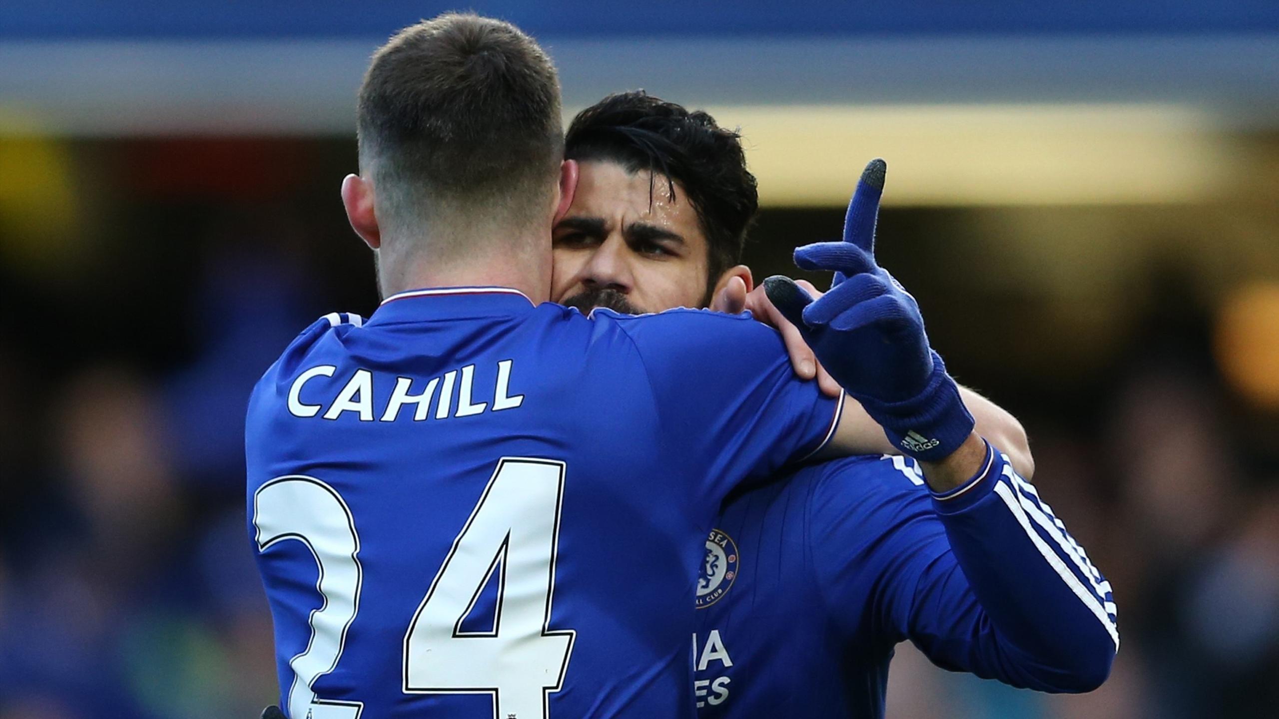 Costa und Cahill bejubeln die Führung für Chelsea