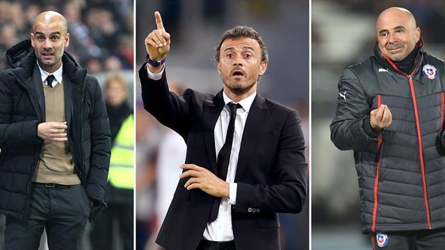 Perfiles de los candidatos a Mejor Entrenador: Luis Enrique, Guardiola y Sampaoli