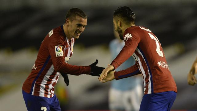 Griezmann et Ferreira-Carrasco ramènent l'Atlético au sommet