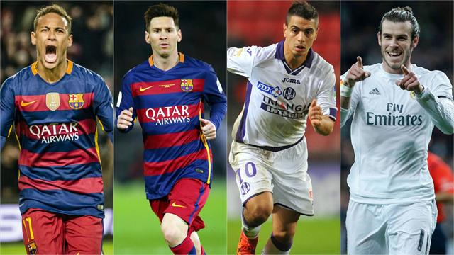 Neymar, Messi et Bale : un sacré trio pour servir Ben Yedder cette semaine