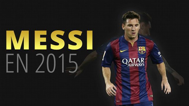 5 titres, 52 buts et des records dans tous les sens : 2015, c'était (encore) l'année Messi