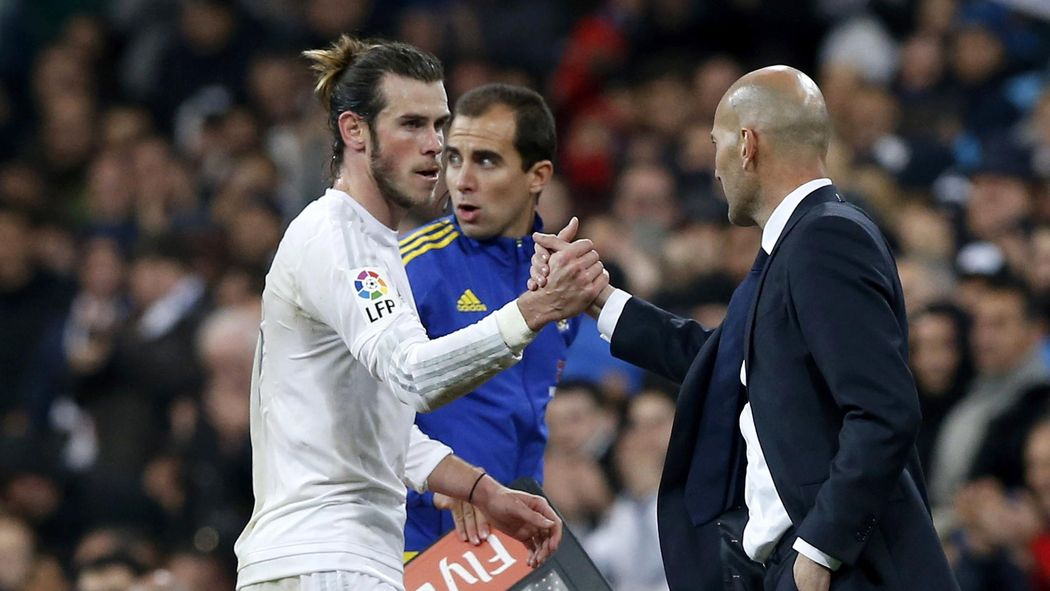 Image result for Gareth Bale with Zidane