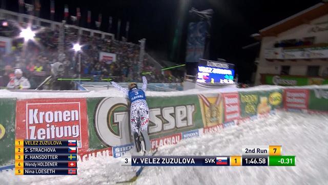 Impériale en 1re manche, Velez-Zuzulova a contrôlé en seconde pour s'imposer