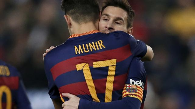 Munir grabs double in comprehensive derby win for Barcelona