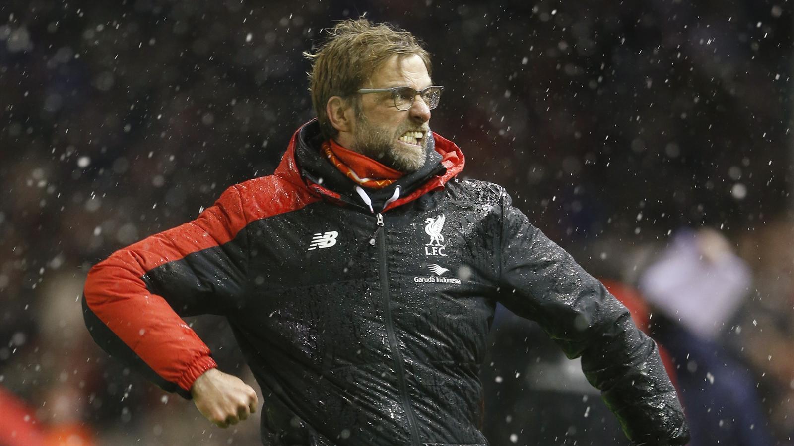 Jurgen Klopp celebrates Liverpool grabbing a point against Arsenal