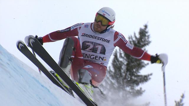Jansrud avait les centièmes de son côté : son slalom en vidéo