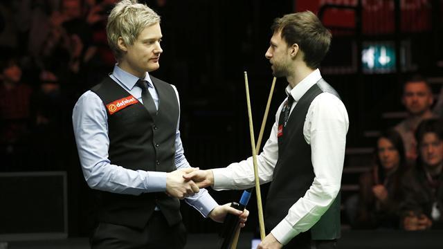 Trump beats Robertson in Masters classic as world champion Bingham downs Higgins