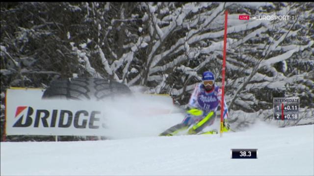 Quatrième à mi-course, Grange peut rêver de la victoire: Sa 1re manche en vidéo