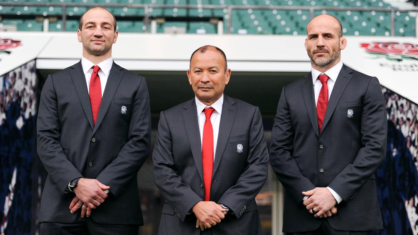 Le nouveau staff de l'Angleterre: Borthwick, Jones et Gustard