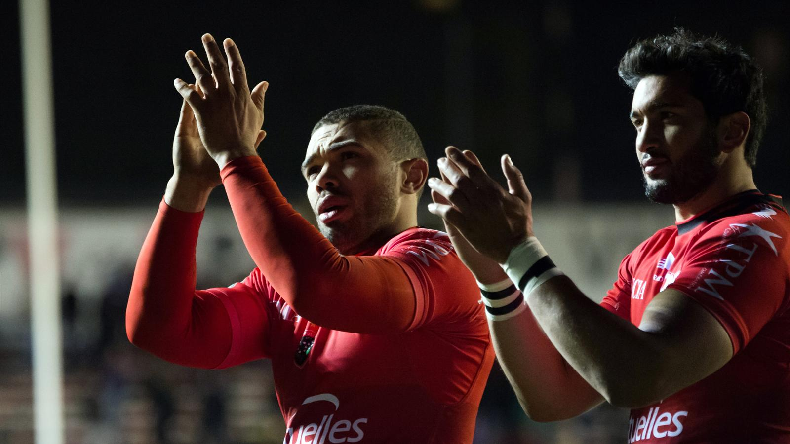 Bryan Habana et Maxime Mermoz (Toulon) - 17 janvier 2016