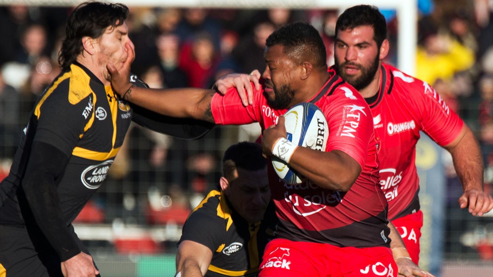 Steffon Armitage (Toulon) face aux Wasps - 17 janvier 2016
