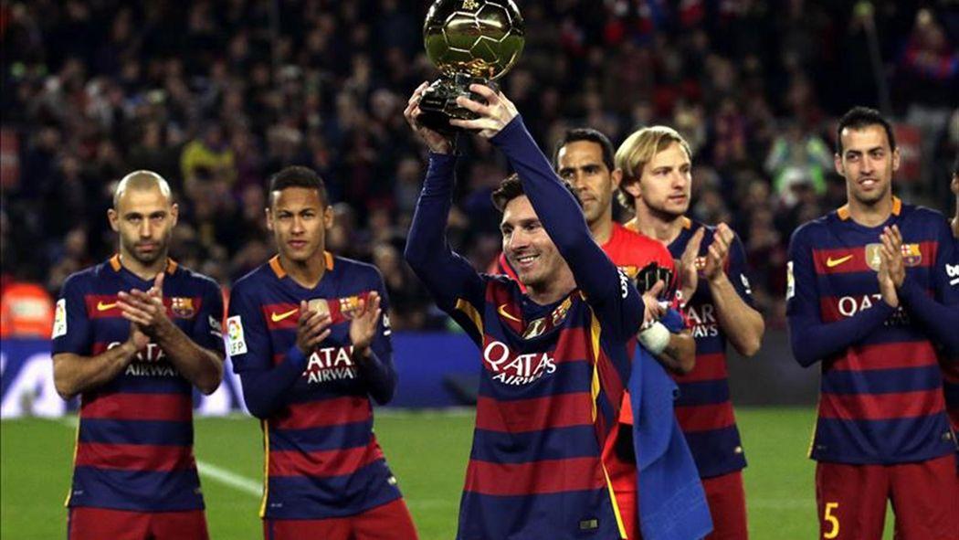 87fc8bf5e001a Messi ofrece su quinto Balón de Oro al Camp Nou - Fútbol - Eurosport Espana