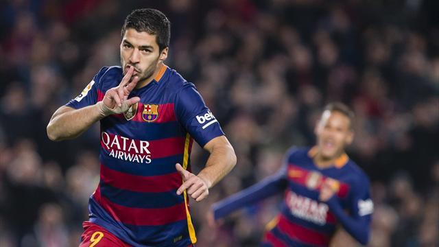 Barcellona forza 6, Suarez ne segna 3