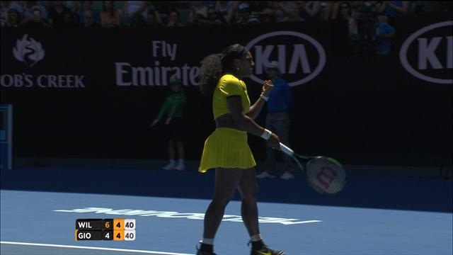 Serena Williams - Giorgi, les temps forts
