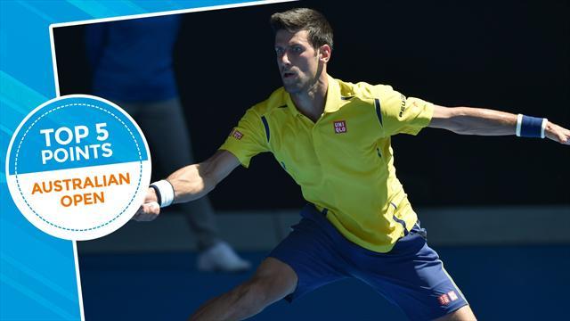 Open d'Australie - Top 5 points : Kyrgios fait (déjà) le show, Federer et Djokovic frappent fort