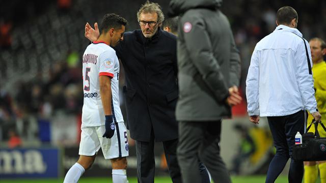 """Blanc le reconnaît : il y aura """"un choix à faire en fin de saison"""" pour Marquinhos"""