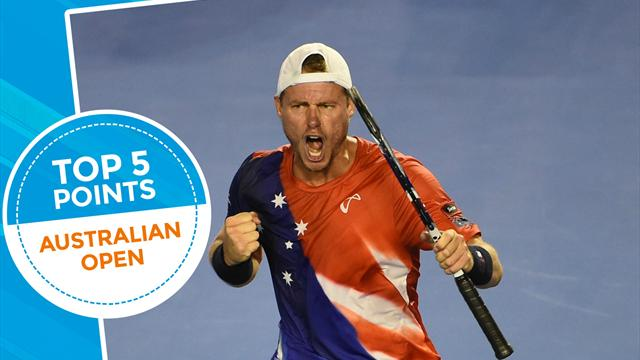 Топ-5 ударов второго дня Australian Open