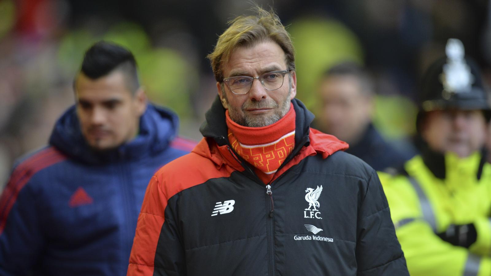 Liverpool's German manager Jurgen Klopp arrives