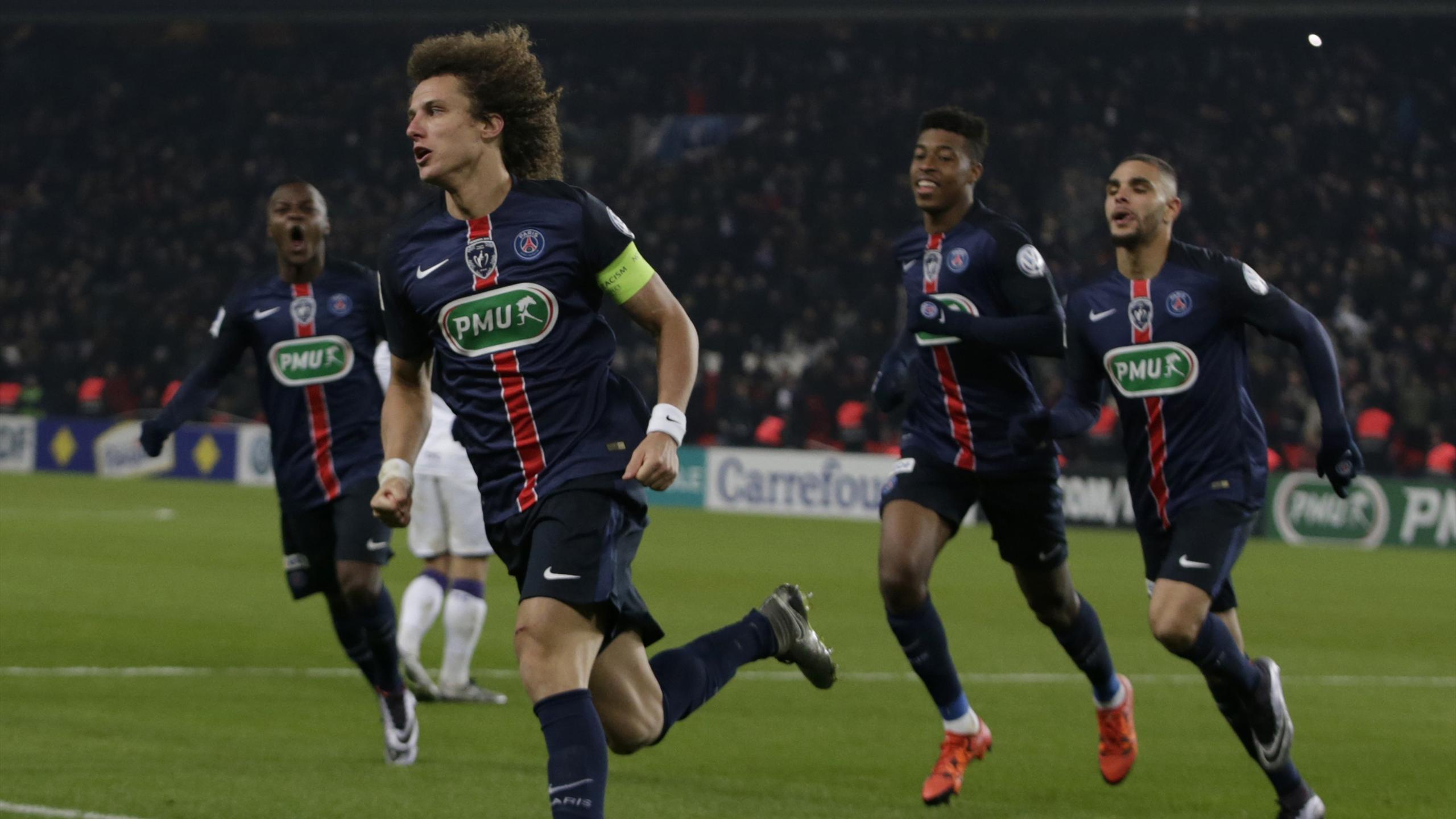 David Luiz, buteur avec le PSG face à Toulouse