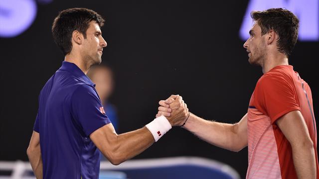 Comme prévu, Halys a perdu face à Djokovic, non sans être combatif
