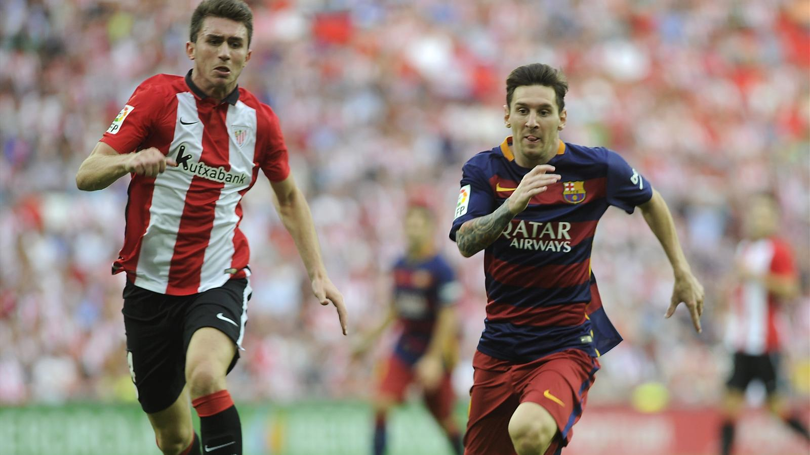 Aymeric Laporte, Leo Messi - Athletic Bilbao - FC Barcelona - Liga 2015-2016