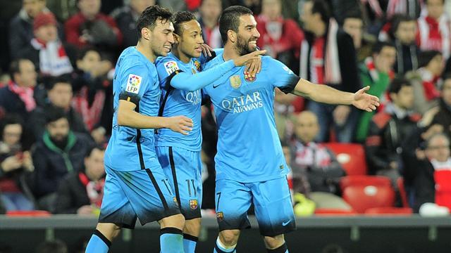 Privé de Messi et Suarez, le Barça a (un peu) souffert mais a été plus efficace que Bilbao