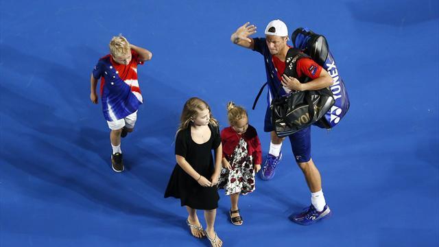 Lleyton Hewitt beaten by Ferrer in final match of career