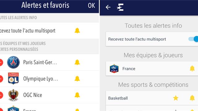 Avec l'appli Eurosport, recevez des alertes sur vos sports, clubs et sportifs favoris !