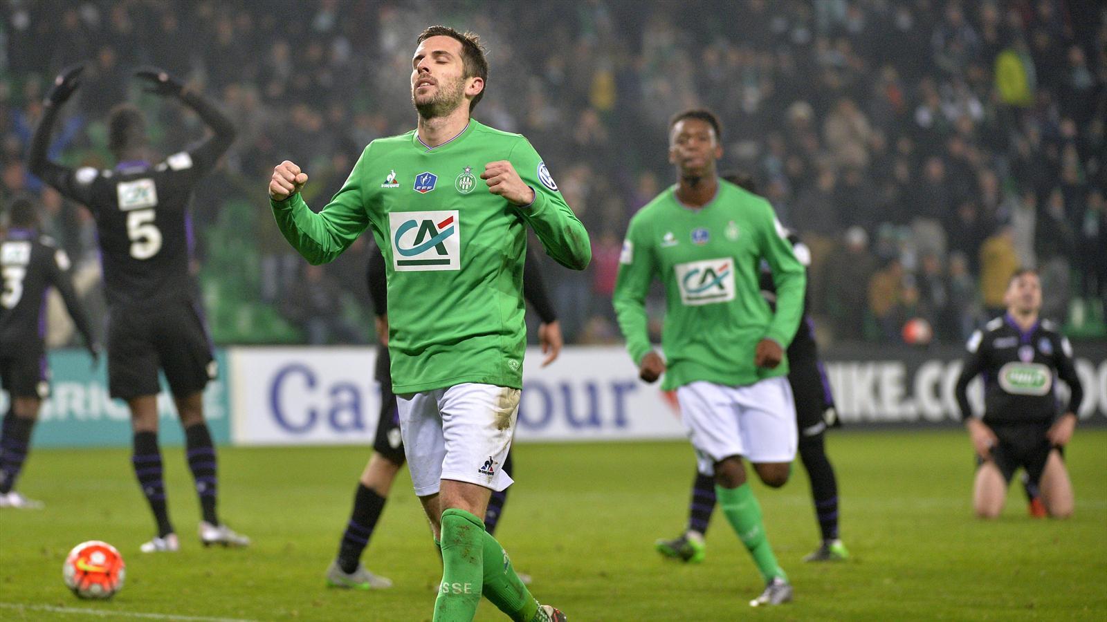 Benjamin Corgnet (AS Saint-Étienne), buteur décisif pour les Verts en Coupe de France