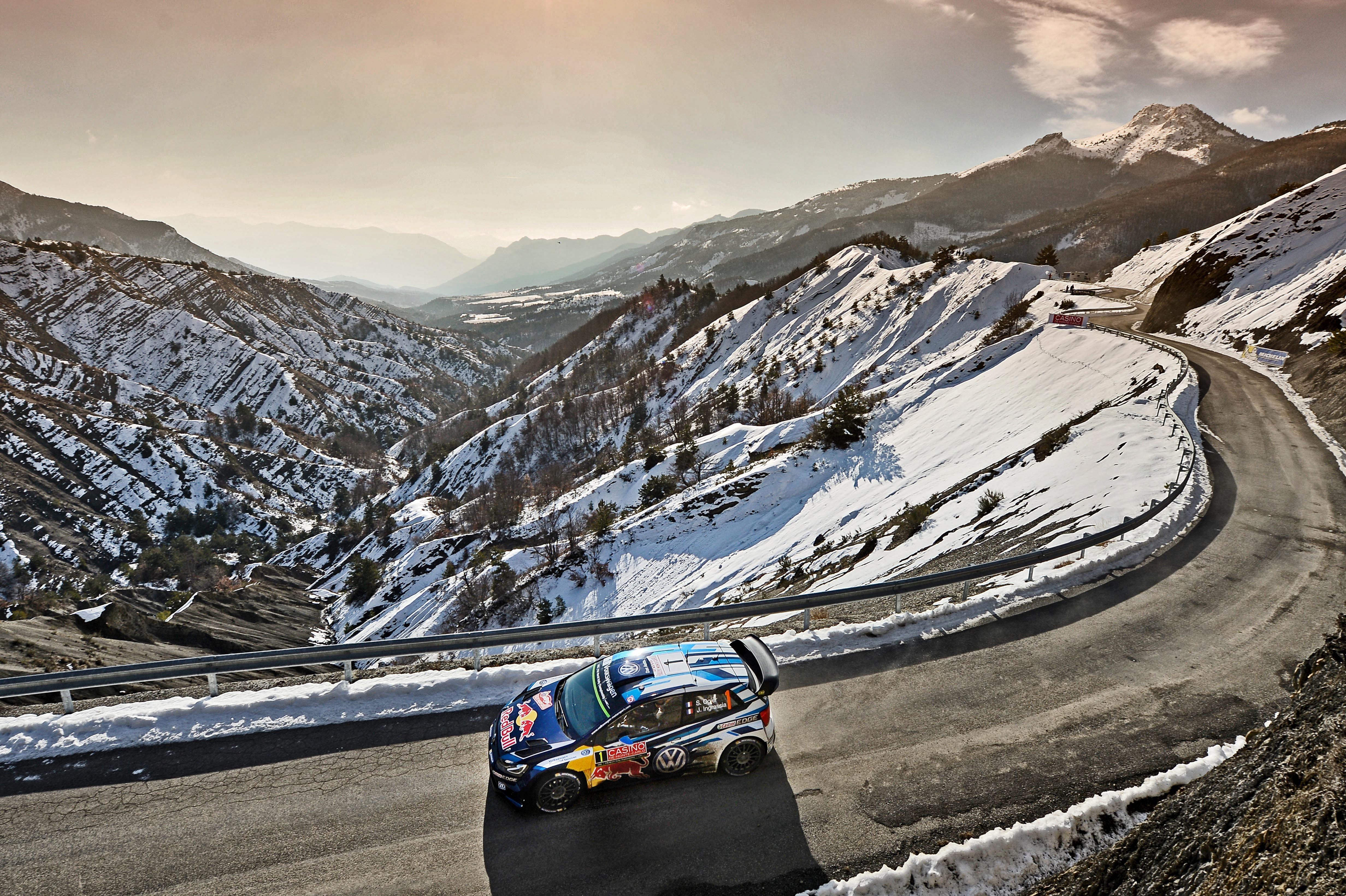 Sébastien Ogier sur les routes du Rallye Monte Carlo 2016