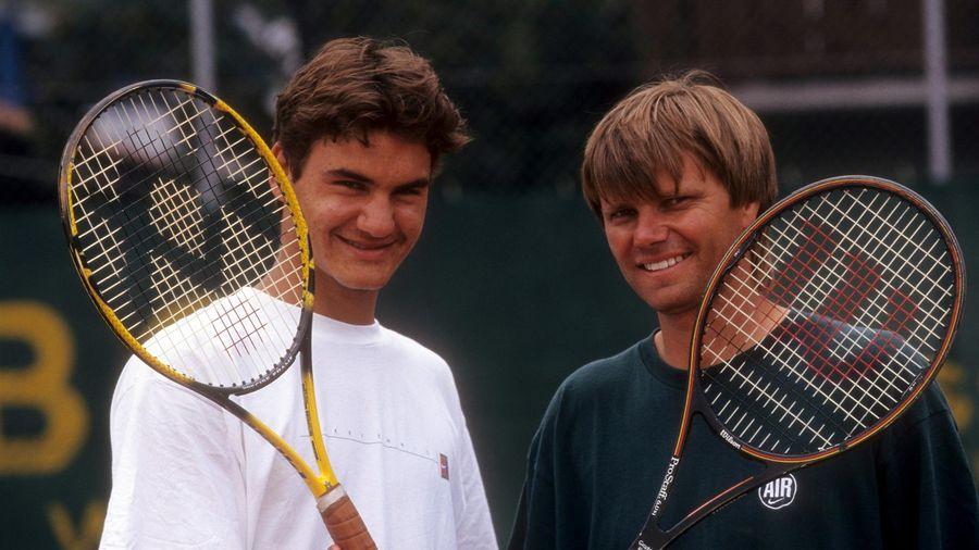 Roger Federer et Peter Carter en 1998