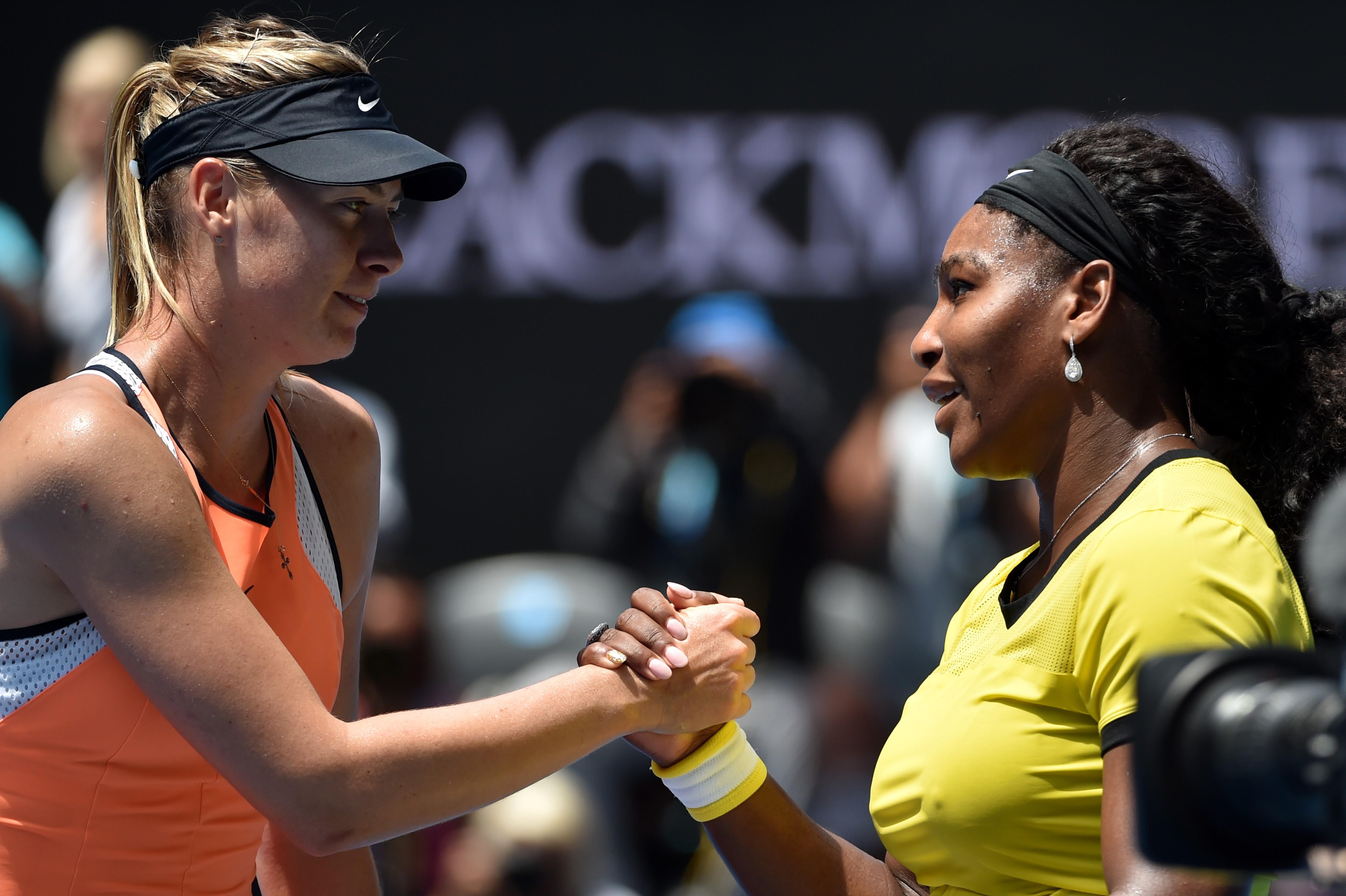 Мария Шарапова и Серена Уильямс на Australian Open