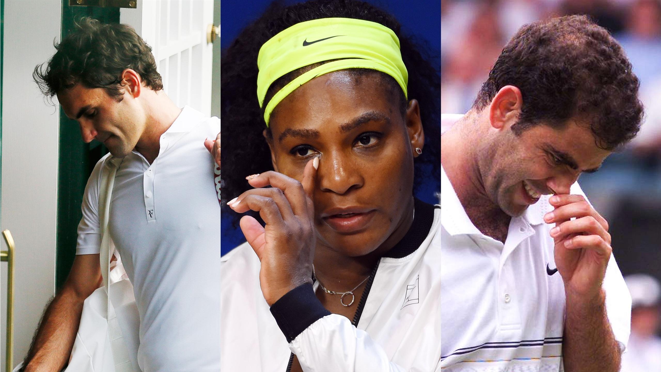 Roger Federer, Serena Williams and Pete Sampras after shock defeats