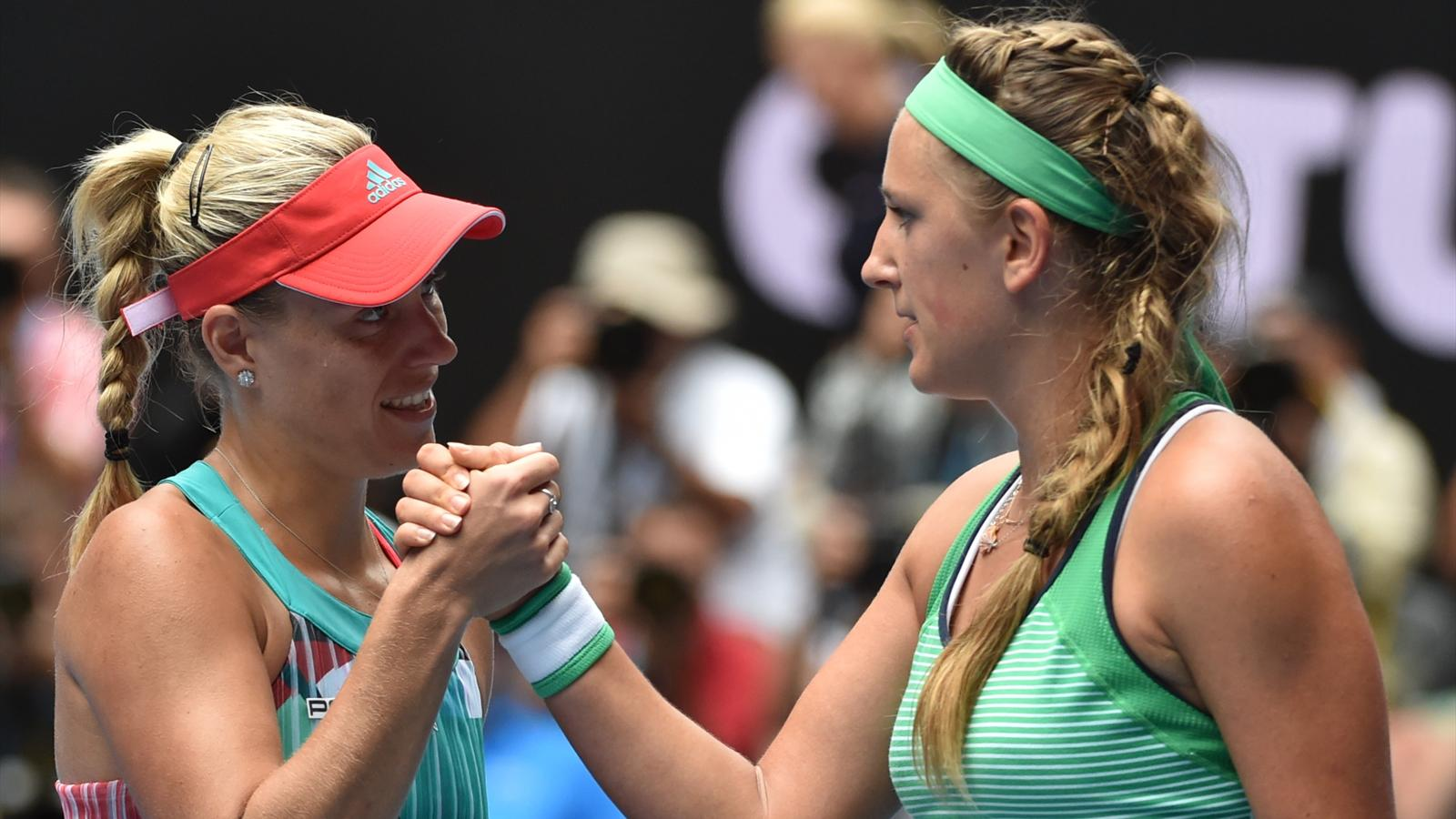 Victoria Azarenka and Angelique Kerber - Australian Open 2016