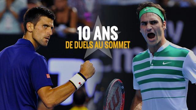 Federer - Djokovic : Une décennie de duels au sommet