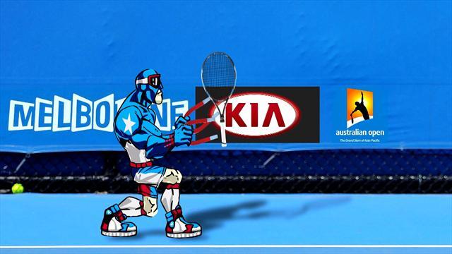 Sport Invaders : l'Open d'Australie aimante les champions (et même Iron Man)